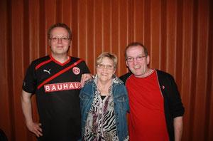 Der neue Treu-Vorstand: Olli, Sonja und Hubsi