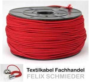 Textilkabel rot 1 adrig 1x0,75 Einzeladerleitung Textilkabel Fachhandel Felix Schmieder