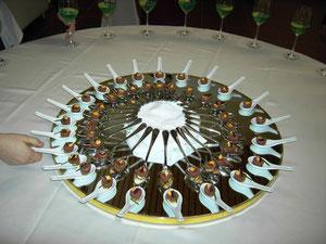 Beef Tatare in Löffeln