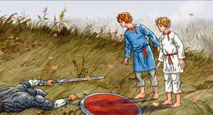 дети переплыли реку Дон