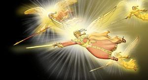 летят ангелы на битву с бесами