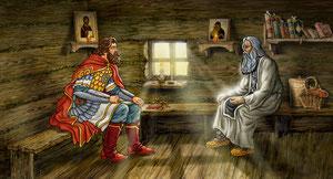 Дмитрий Донской и Пересвет иОслябя