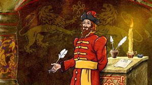 Писарь  пытается спорить о бессмысленности указов князя