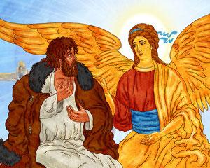 ангел с крестьянином