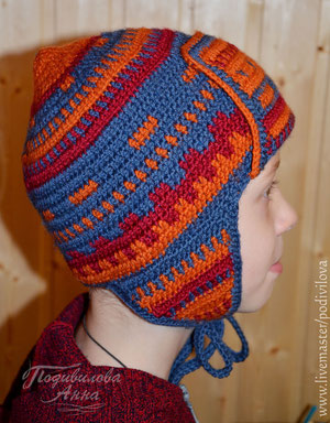 Вязанная шапка Богатырь