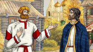 Дровосек убеждает князя что Господь поможет в любом испытании