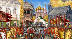 Выход войск из Коломны