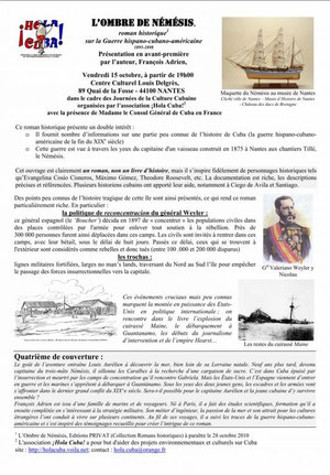 Hola Cuba Présentation en avant-première par l'auteur, François Adrien de L'Ombre de Némésis