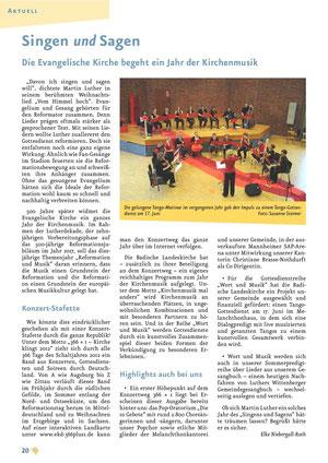 Artikel über die Flötengruppe im Gemeindebrief 02/12
