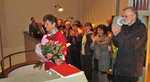 Großer Applaus für Edith Putz und den Sandleitner Kirchenchor.