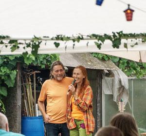 Gesundheitsschuppen Monika Grießer und Ulrich Jäck Veggie Fest Sommer
