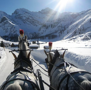 Winterausflugsziel Sertig Dörfli
