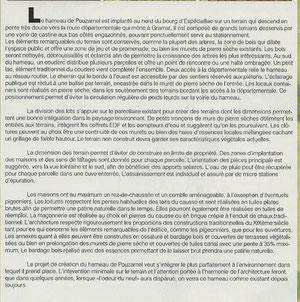 Texte descriptif du hameau de Pouzarnel