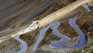 Reise von Ladakh nach Delhi, über die Pässe Taklang La und Rothang La