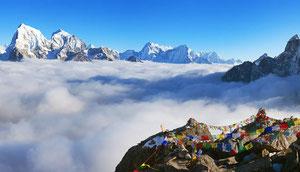 Panorama Trekking zum Mount Everest mit den Pässen Cho La und Renjo La