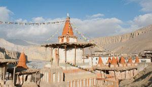 Trekking nach Mustang hinter der Annapurna in Nepal