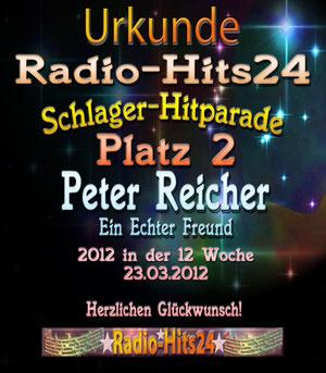 2. Platz in der deutschen Hitparade RADIOHITS24 Berlin