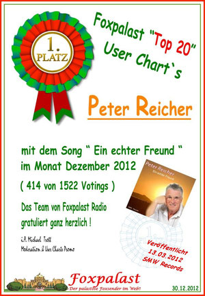Platz 1 im Webradio Foxpalast/Deutschland