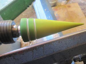 Weinflaschenverschluss/Fotopinhalter in Ahorn gedrechselt / zweifarbig abgesetzt