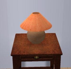 Lampe de chevet orange (Création de SimsDesignAvenue)