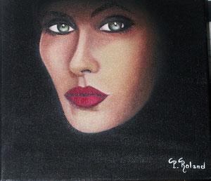 Portrait de femme en clair obscur