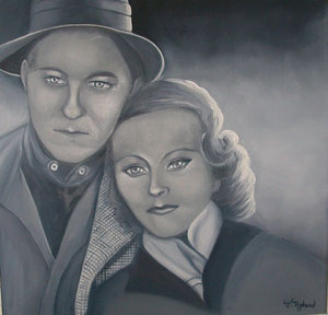 Madame Michèle Morgan et Monsieur Jean Gabin