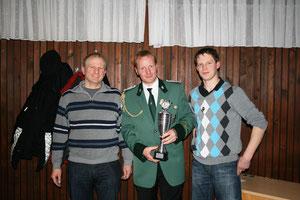 Von links: Wilfried Bahns, Andreas Rojer und Bernd Hüser