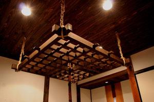 格子吊り木