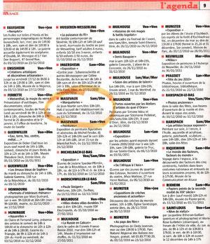 Supplément Week-end journal l'Alsace du 10/12/2010