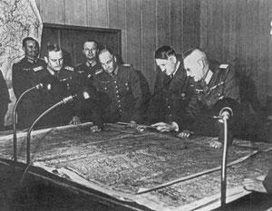 Los jefes militares del Tercer Reich.