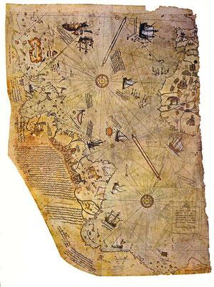 El Mapa de Piri Reis (Clic para ampliar)