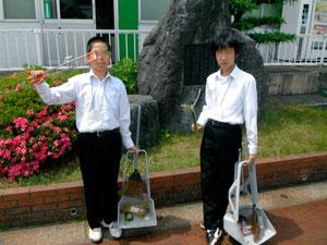 加茂市葵中学2年生が職場体験学習