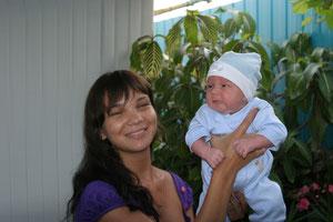 Дочь Аида и внук Саша