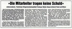 Wetterauer Zeitung vom 6. Oktober 1999