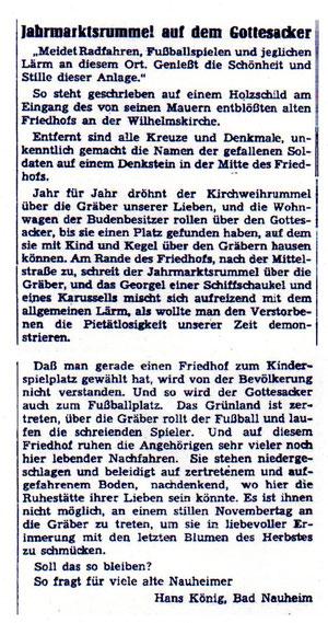 Wetterauer Zeitung vom 22. November 1963