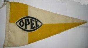 Ein Original Opel Wimpel der 30er Jahre sehr selten und teuer.