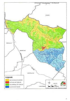 Carte des grandes entités paysagères