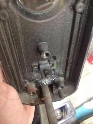 サムラッチ錠鍵修理2