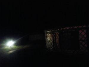 電気復活して夜な夜な