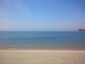 つつじ荘の浜から