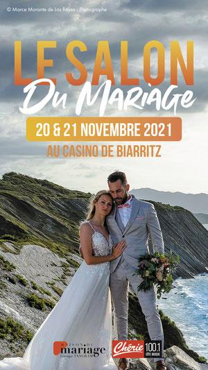 Salon du Mariage au Casino  de Biarritz 20 et 21 Novembre 2021