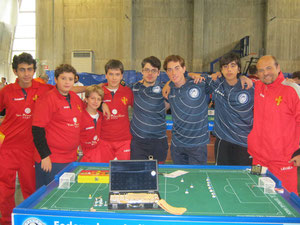 Il Messina Table Soccer e la squadra Under 19 del Napoli 2000