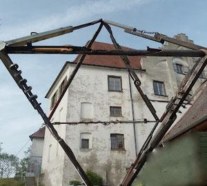 Bettenreute Skulpturenweg, Weltenkreuz, Black Boxeb