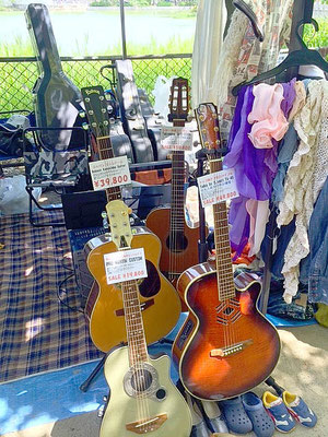 第28回 帝塚山音楽祭 出店風景1 カレッジギターズ