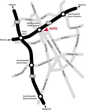 Lageplan AHPD