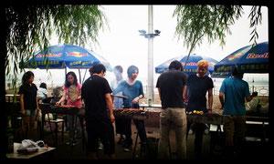 北京郊外で BBQ