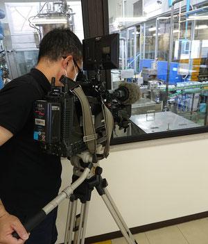 TeNYテレビ新潟の取材風景