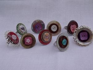 Bagues boutons de nacre