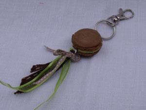 Bijou de sac macaron en pâte fimo
