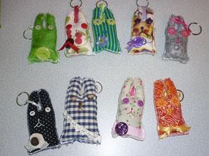 """Bijoux de sac """"les Crazy Lapins"""""""